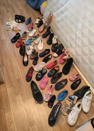 Детская обувь опт лот туфли чешки кроксы сапоги