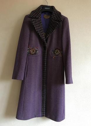 Пальто демисезонное кашемировый эксклюзив от etro оригинал раз...