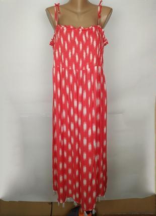 Платье летнее оранжевое стильное с бахромой monsoon uk 16-18