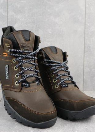 Мужские кожаные зимние ботинки