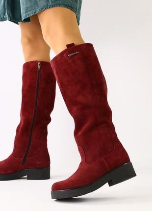 Lux обувь! новинка 😍 зимние натуральные высокие сапоги трубы м...