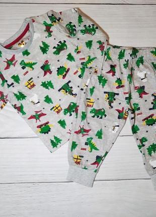 Хлопковая пижама by very, р 12-18 мес.