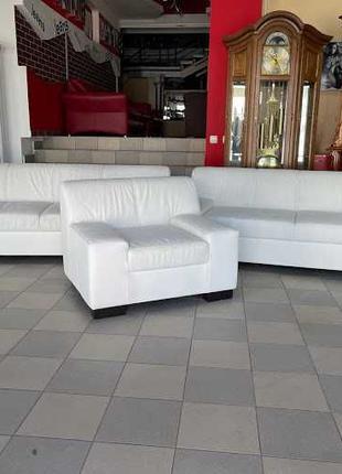 Новый кожаный комплект мягкая мебель шкіряний диван Германия