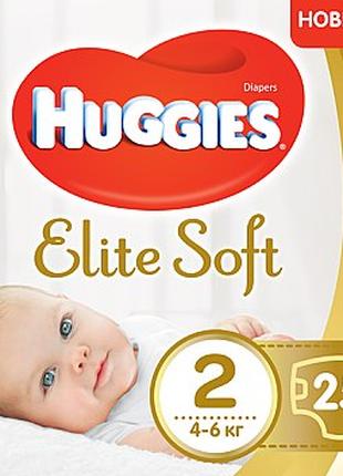 """Подгузники """"Elite Soft"""" 2 (4-6 кг), 25шт. - Huggies"""