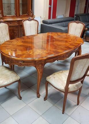 Комплект мебели для гостиной в стиле Барокко стол стулья витрина