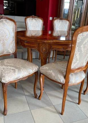Стол столовый, раскладной + 6 стульев Барокко