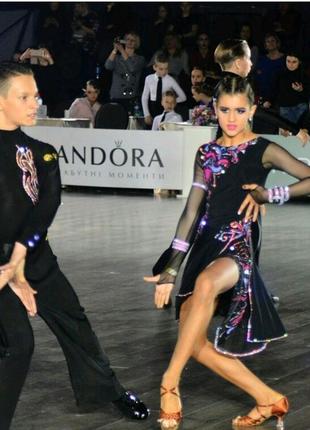 Латинское платье для бальных танцев
