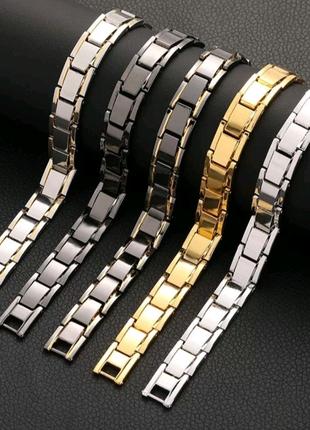 Универсальный мужской и женский магнитный браслет. Длина: 20 см.