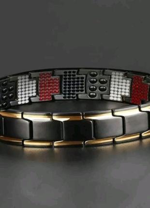 Титановый, магнитный браслет, лечебный браслет