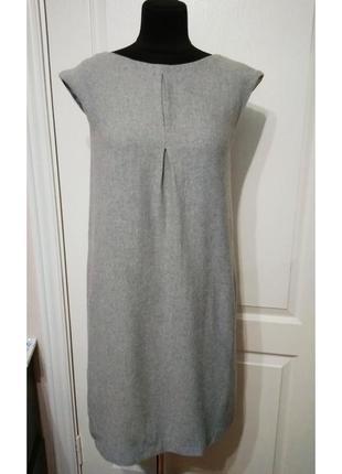 Платье - сарафан прямого кроя шерсть