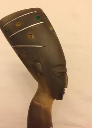 Рожок ложка для обуви Нефертити кость резьба антиквариат