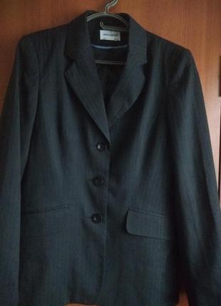 Акция!!!Офисный пиджак черный в полоску