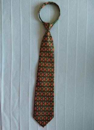 Шелковый галстук на молнии от rené chagal с оригинальным принтом