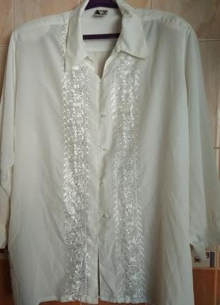 Шикарная нарядная блуза/кофточка/с вышивкой/батальный размер о...