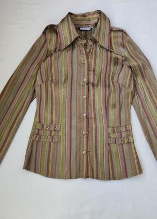 Блузка рубашка в вертикальную полоску купить киев - распродажа...