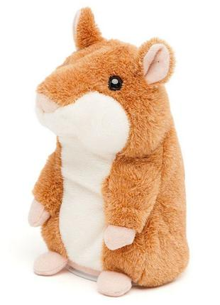 Детская интерактивная мягкая игрушка Говорящий хомяк-повторюшка