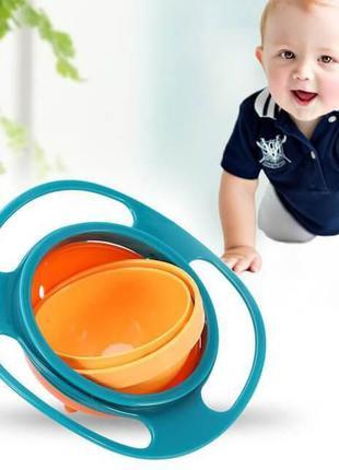 Детская тарелка-неваляшка Universal GyroBowl из безопасного пл...