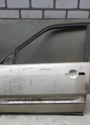 Дверь перед L (белая) Audi 100 C3 (82-91)