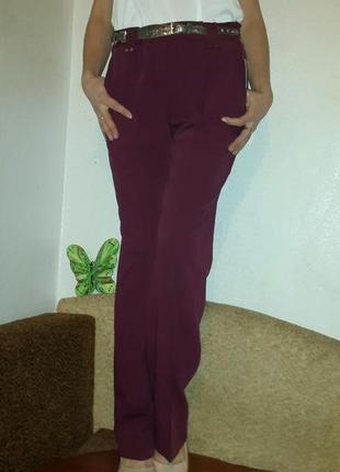 Шикарные стильные прямые  брюки размер м