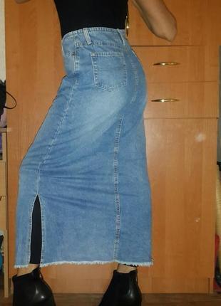 Макси юбка джинс размер s-m