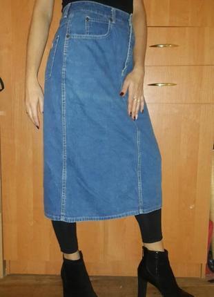 Джинсовая юбка миди из америки размер m купить