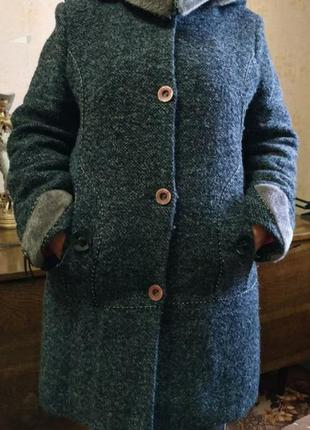 Зимние теплое пальто большого размера