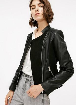 Куртка косуха женская only с натур. кожа замша