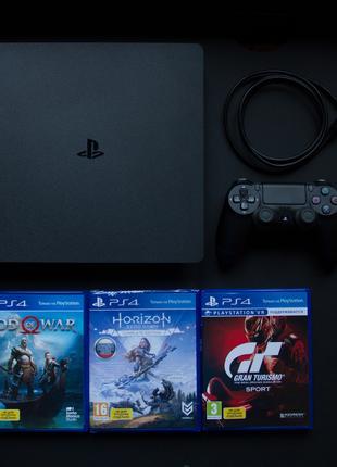 PlayStation 4 Slim 1tb God Of War, Horizon Zero Dawn, GT Sport, B