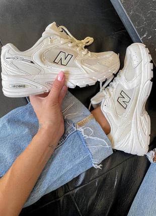 Белые кроссовки нью беланс