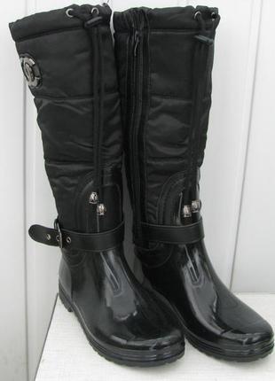 Женские теплые резиновые сапоги марки Сhanel.