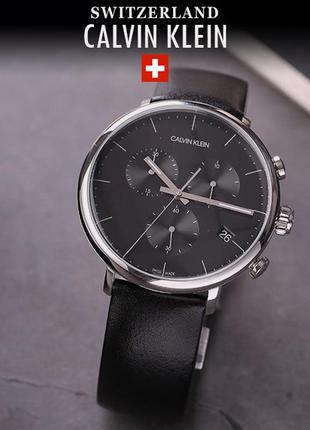 - 50% | мужские швейцарские часы хронограф calvin klein k8m271...