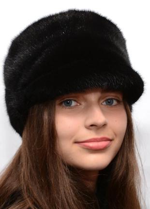 Зимняя норковая женская кепка
