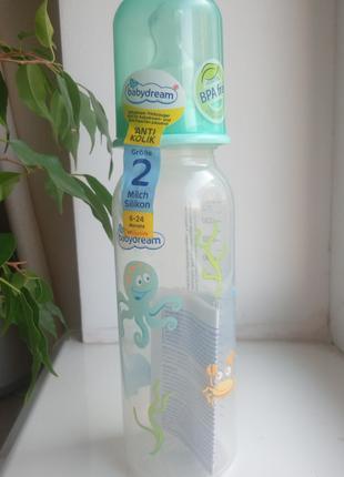 Новая антиколиковая бутылочка Babydream Германия 250 мл.