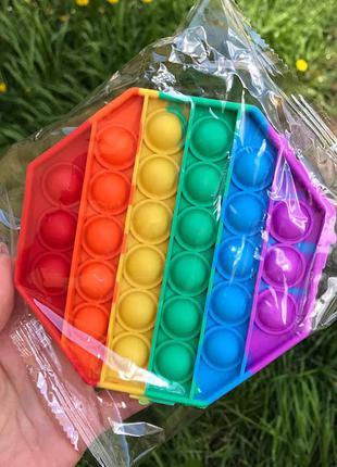 Антистрес іграшка pop it (восьмикутник) к. 043