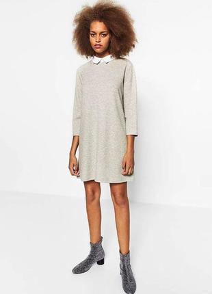 Zara платье с рубашечным воротником