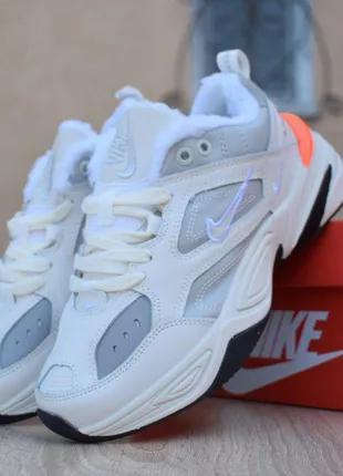 Зимние женские кроссовки на меху  Nike M2K Tekno. Артикул 3356.