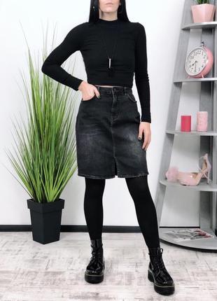 Джинсовая юбка в винтажном стиле винтаж costes