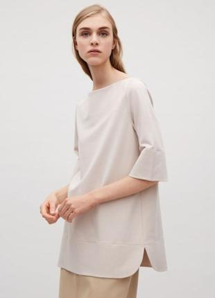 Бежевая блуза cos / s