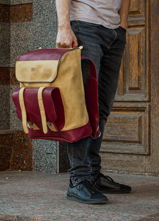 Кожаный рюкзак, Спортивный кожаный рюкзак
