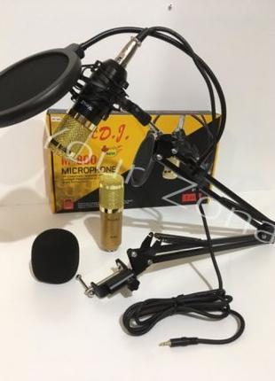 Студийный микрофон Music D.J. M800 со стойкой, кабелем и ветро...