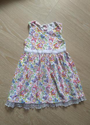 Платье сарафан на девочку хлопок