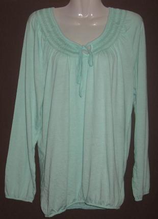 Блузка женская   большой размер, с длинным рукавом. дешево