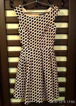 Платье женское modello в горох,выпускное платье, б/у размер s,...
