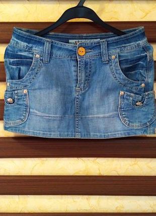 Джинсова спідниця, джинсовая юбка, розмір s