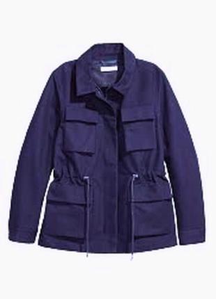 Женская синяя куртка демисезон весна осень esprit  накладные к...