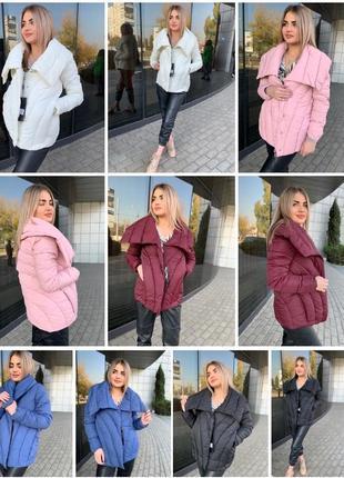 Куртка зимняя тёплая пуховик модель 2019 тренд сезона