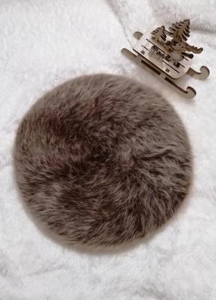 Берет из натуральной шерсти ангорского кролика