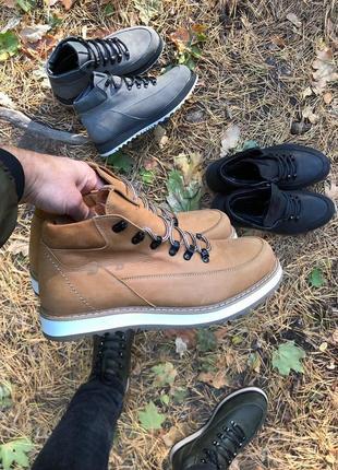Lux обувь! мужские зимние натуральные высокие ботинки сапоги к...