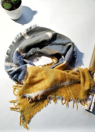 Большой вискозный широкий шарф палантин косынка