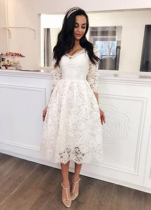 Платье можно как свалебное